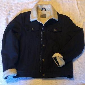 ASOS Navy Blue Wool Coat